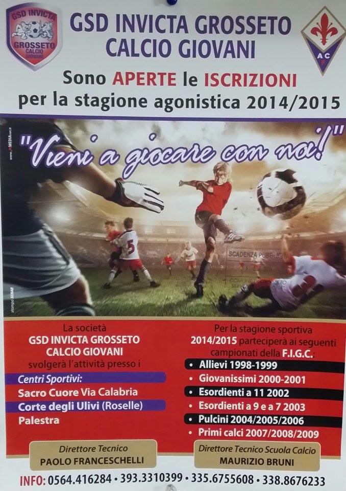 Locandina Invicta stagione 2014-15