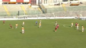 L'Aquila-Grosseto 0 a 1 - Perna in fuorigioco - immagine tratta da www.sportube.tv