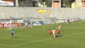 L'Aquila-Grosseto 0 a1 - Pichlmann spiazza Cacchioli - immagine da www.sportube.tv