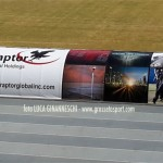 panchina del Grosseto con sponsor Raptor