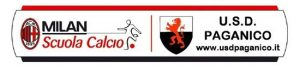scuola calcio Milan Paganico
