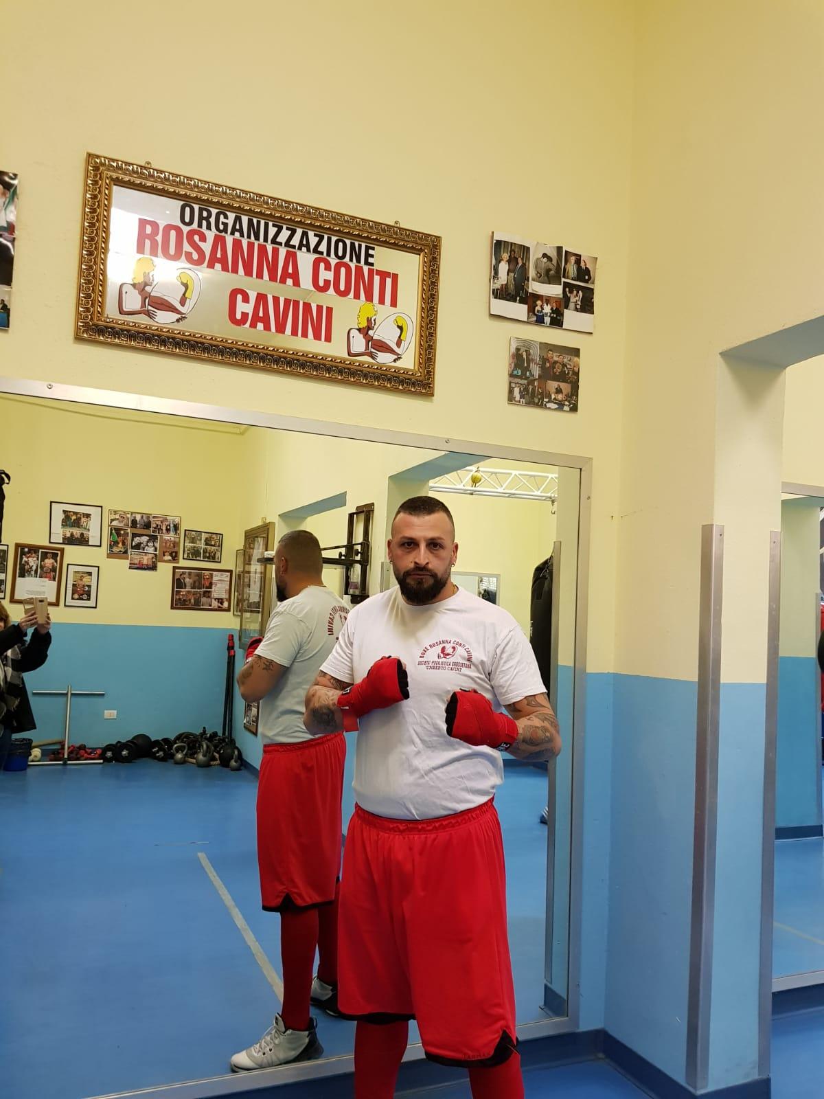 Boxe: Angelo Rizzo del team Rosanna Conti Cavini impegnato