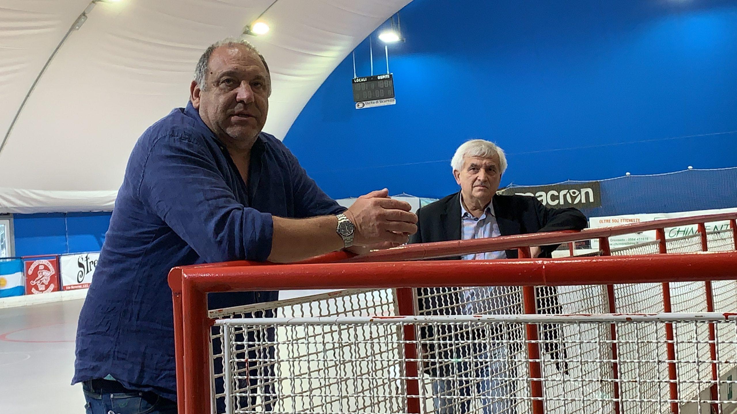 hockey circolo pattinatori grosseto allenatore Stefano Paghi e presidente Osti 2020-2021