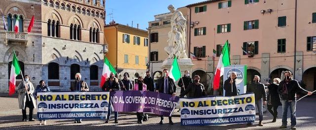 fratelli d'italia manifestazione in piazza dante no al decreto sicurezza2