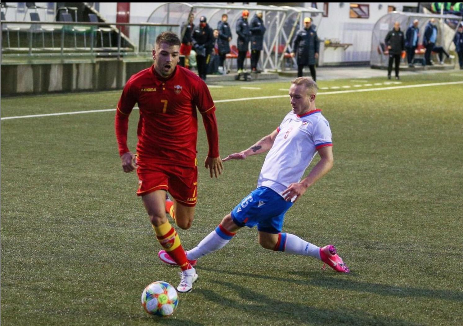 Stijepovic con la maglia del Montenegro U21 (foto profilo personale Instagram)