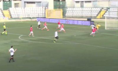 Pro Vercelli-Us Grosseto - il gol di Costantino che vale l'1 a 0