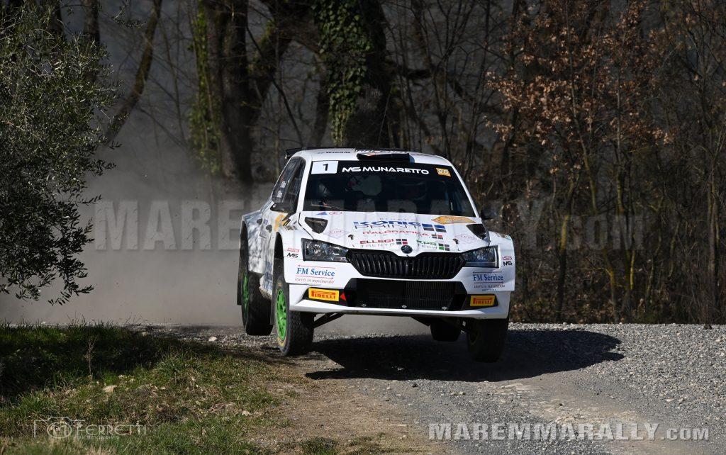 La coppia Marchioro-Marchetti trionfa nel 1° rally Città di Arezzo e Valtiberina