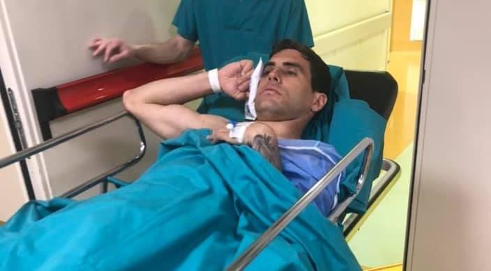 Filippo Moscati fuori dalla sala operatoria - foto di Giorgio Moscati