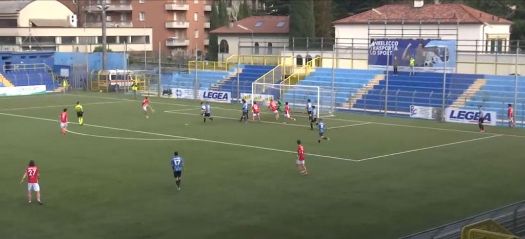 Lecco-Us Grosseto 1-a-1, il gol-di-Simeoni