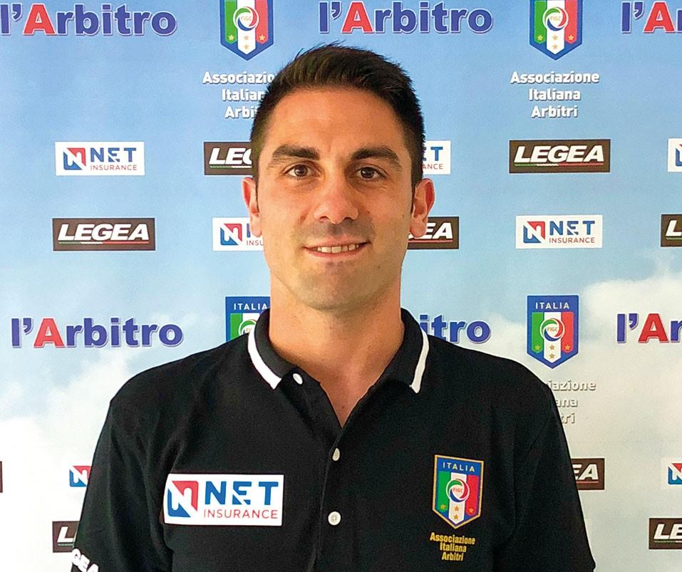 L'arbitro Mattia Ubaldi di Roma 1