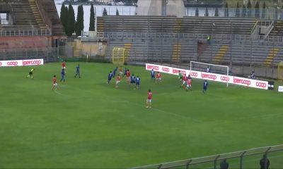 Como-Grosseto 2020-21, il gol del 2 a 2 di Galligani