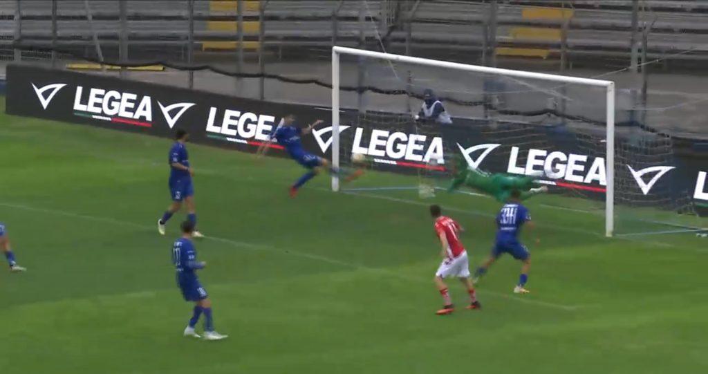 Como-Grosseto 2020-21, il gol di Galligani