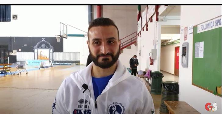 GS-TV-interviste-post-partita-al-tecnico-Giuseppe-Dauge-e-al-presidente-della-Pallavolo-Follonica-Fausto-Negrini