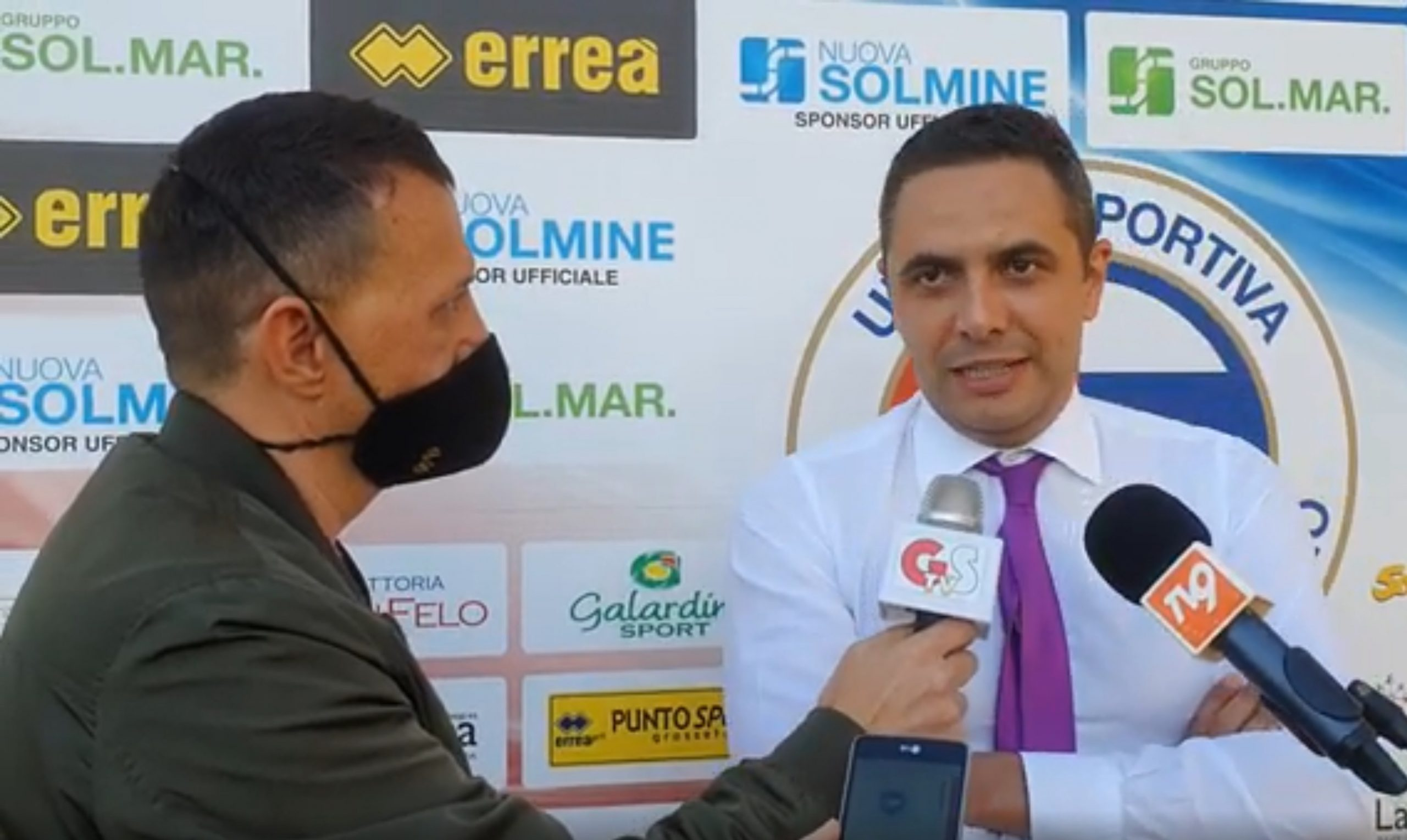 Lorenzo Mansi intervistato dopo Us Follonica Gavorrano-Lornano Badesse 3 a 0