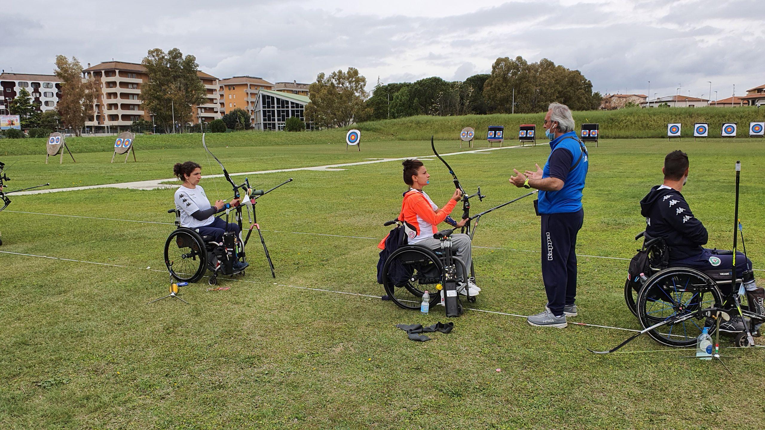 nazionale-italiana-para-archery-a-Grosseto-in-preparazione-delle-olimpiadi-di-Tokio-