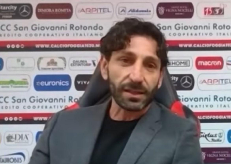 Beppe Giglio - immagine tratta dal canale YouTube Foggia Calcio 1920