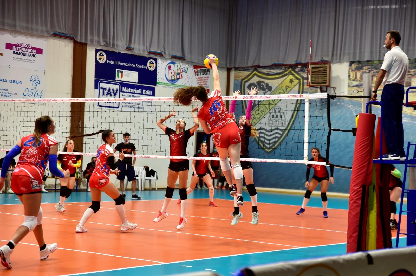grosseto volley school squadra under 19 azione di gioco