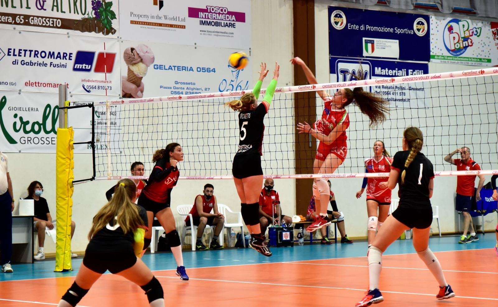 grosseto volley school squadra under 19 azione di gioco1
